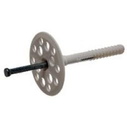 Дюбель для крепления термоизоляции с металлическим стержнем 10х70