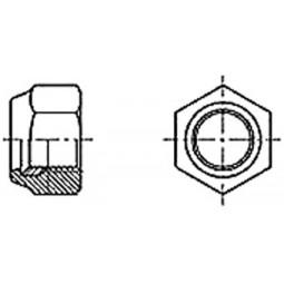 Гайка самоконтрящаяся с нейлоновым кольцом DIN 985 М3