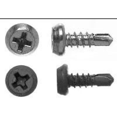 Саморез для крепления металлических профилей 3,5х9,5 цинковый до 2 мм