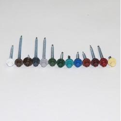 Саморезы для крепления кровельных материалов, окрашенные в цвета RAL